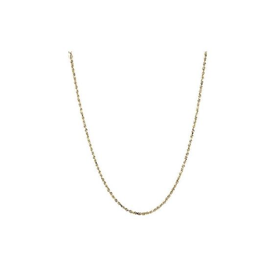 Hollow 10k Gold Rope Sparkle Chain For Men and Wom