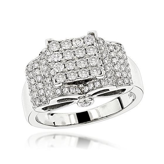 Engagement Rings: 14K Gold Pave Diamond Ring by LU