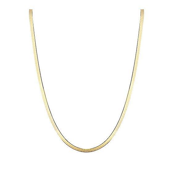 Solid 10K Yellow Gold Herringbone Chain 4mm Wide N