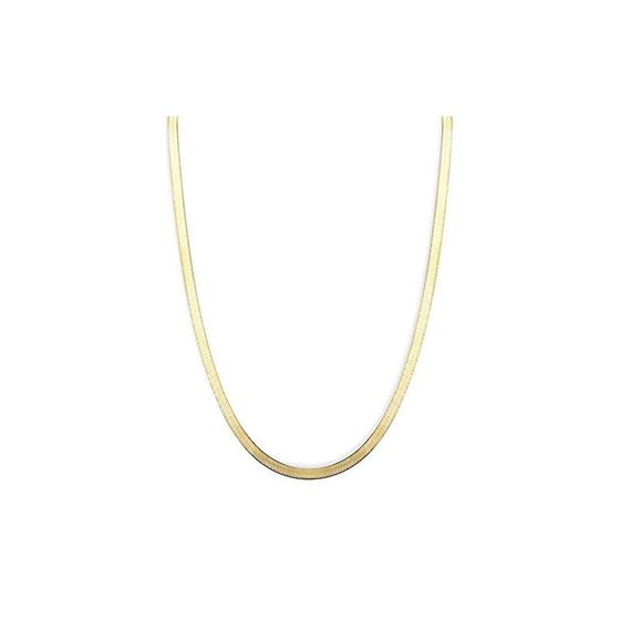 Solid 14k Gold Herringbone Imperial Chain For Men