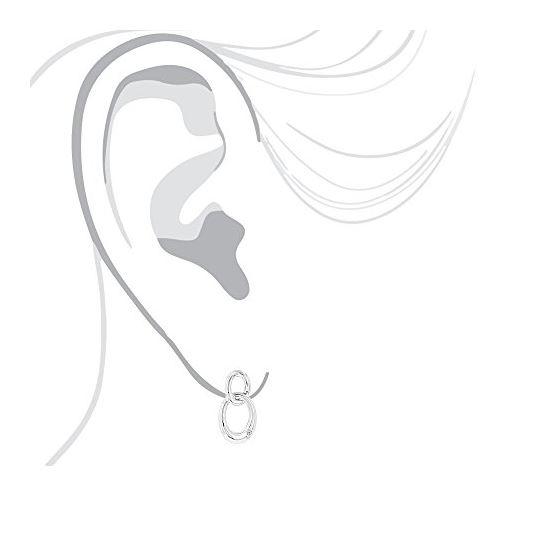 Luxurman Love Quotes: Silver Interlocking Ovals Di