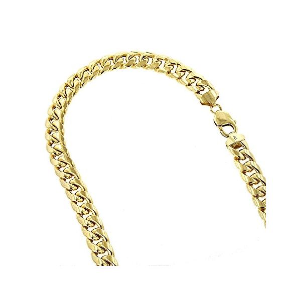 10K Yellow Gold Hollow Miami Cuban Link Chain Neck