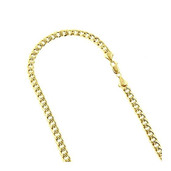 Hollow 10k Gold Cuban Link Miami Chain For Men 8mm Necklace d0765b32f09f