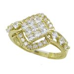 10K Yellow Gold womens wedding band enga 63147 1