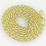 10K Yellow Gold rope chain GC1 1