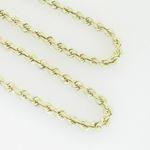10K Yellow Gold rope chain GC5 3