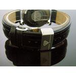1.75Ct 37Mm Round Diamonds Watch Black Leather B-3