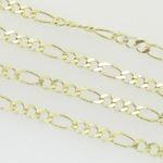10K Yellow Gold figaro open link chain GC89 3