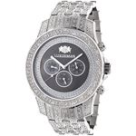 Iced Out Mens Diamond Watch By LUXURMAN 1.25Ct Bla