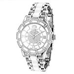 Ladies Genuine Diamond Ceramic Watch 1.2 90197 1