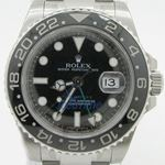 Rolex GMT Master II Black Index Dial Oyster Bracelet Stainless Steel Mens Watch 1