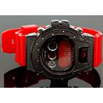 Ice Plus Mens Diamond Shock Style Watch Black Case Red Band 1