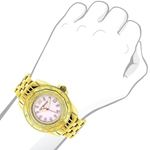 Luxurman Yellow Gold Plated Ladies Real  91127 3