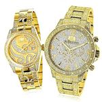 His And Hers Watches: Diamond Watch Set Yellow Gol