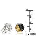 Yellow Black Diamond Earrings Sterling S 84762 3