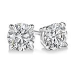 """Gold Round Cut Diamond Stud Earrings 0.5ctw"