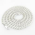 Mens White-Gold Cuban Link Chain Length - 24 inches Width - 5.5mm 1