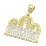 Mens 10k Yellow Gold Last supper with stones Pendant 1
