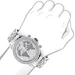World Map Watches: Mens Diamond Watch 2.50Ct-3