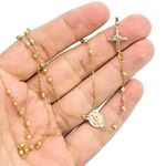 14K YELLOW Gold HOLLOW ROSARY Chain - 28 Inches Long 2.82MM Wide 3