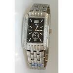 Aqua Master Swiss Classica Square 1.50 ct Diamond Mens Watch W308-WB 1
