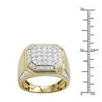 Mens 10K Gold Diamond Wedding Band Pinky Ring 2C-3