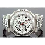 Mens Swiss Made Sports Diamond Watch 0.12Ctw
