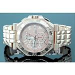 Aqua Master Mens Swiss Made Yellow Gold Sports Diamond Watch 0.12ctw 1