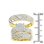 10K Gold Round Diamond Engagement Ring Wedding B-3