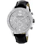 LUXURMAN Liberty 3 Carat Diamond Bezel Watch For M
