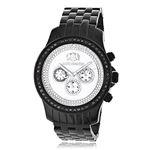Black Genuine Diamond Watches: Luxurman Phantom Heavy Mens Watch 2.25ct 1