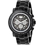 Escalade Oversized Mens Real Black Diamond Watch by Luxurman 3ct Chronograph 1