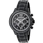 Iced Out Phantom Mens Black Genuine Diamond Luxurman Watch 3ct Chronograph 1