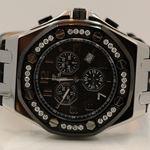 Aqua Master Royal Oak Mens Diamond Watch 1.50ctw W3259 1