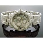 6.75Ct Diamonds Bazel Band Watch White M-O-P Face