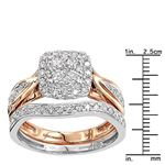 14K Two-Tone Gold Affordable Diamond Engagement-3