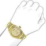 Iced Out Ladies Real Diamond Yellow Gold Plated Watch 1.5ct Tribeca by Luxurman 3