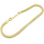 Mens 10K Yellow Gold Franco Bracelet AGMBRP42 8.5