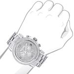 LARGE ICED OUT MENS CHRONOGRAPH DIAMOND  41 3