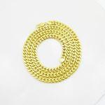 """Mens 10k Yellow gold Yellow gold miami cuban hollow link chain 24"""" 7.5MM rjmch8 3"""
