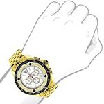 Centorum Large Falcon Mens Real Diamond Watch 0.55ct Chronograph White MOP 3