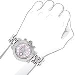 LUXURMAN Ladies Diamond Watch 0.3Ct Pink MOP Ove-3