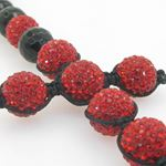 Mens beaded rosary chain crystal gemstone bracelet ball pave macrame rosary with extended cross 3