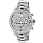 Celebrity Liberty Genuine Diamond Watch for Men 0.5ct Swiss Movt by Luxurman 1