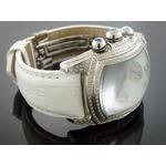 2.50Ct Diamonds Full Case White Face Band Watch-3