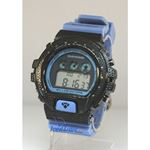 Aqua Master Shock Diamond Mens Black Watch gd4 1