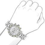 Luxurman Watches: Ladies White Yellow Bl 91067 3