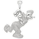 Cartoons Custom Real Diamond Popeye Pendant For Me