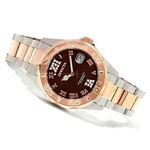 Women 13025 Pro Diver Brown Dial Quartz 3H Rose-3