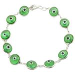 Womens Sterling silver Green evil eye br 84424 1